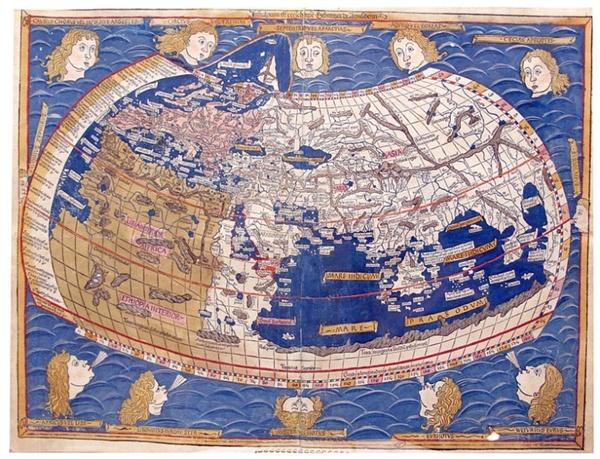 프톨레미 지도 Ulm판 프톨레미 세계지도
