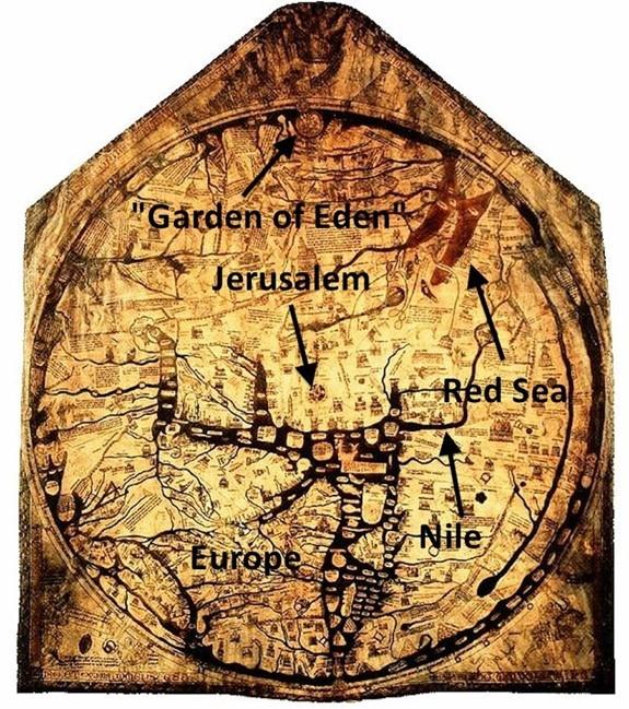 히어포드 지도 중세 기독교 세계상