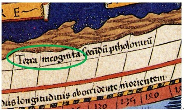 프톨레미 지도 미지의 땅