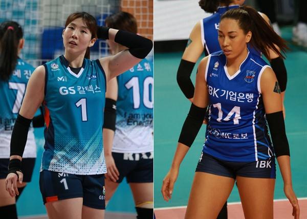여자배구 1-2위 팀 주역... 이소영(GS칼텍스)과 어나이(IBK기업은행)