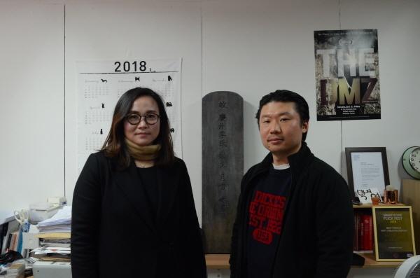 오인천 감독과 박지영 대표 <데스트랩>의 감독과 제작자