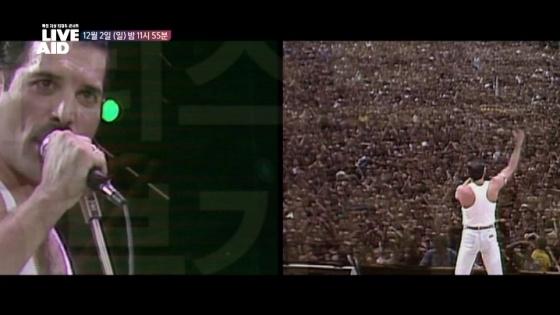 12월 2일 오후 11시 55분 MBC에서 방영된 '지상 최대의 콘서트 - 라이브 에이드'는 <보헤미안 랩소디>로 재조명된 1985년 7월 라이브 에이드 콘서트 실황을 내보냈다.