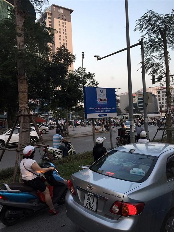 하노이 중심가 고층빌딩 모습