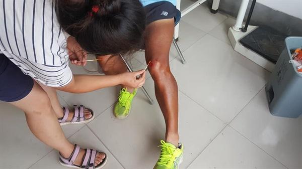 달리기를 중단해야 할 만큼의 큰 사고는 없었다.