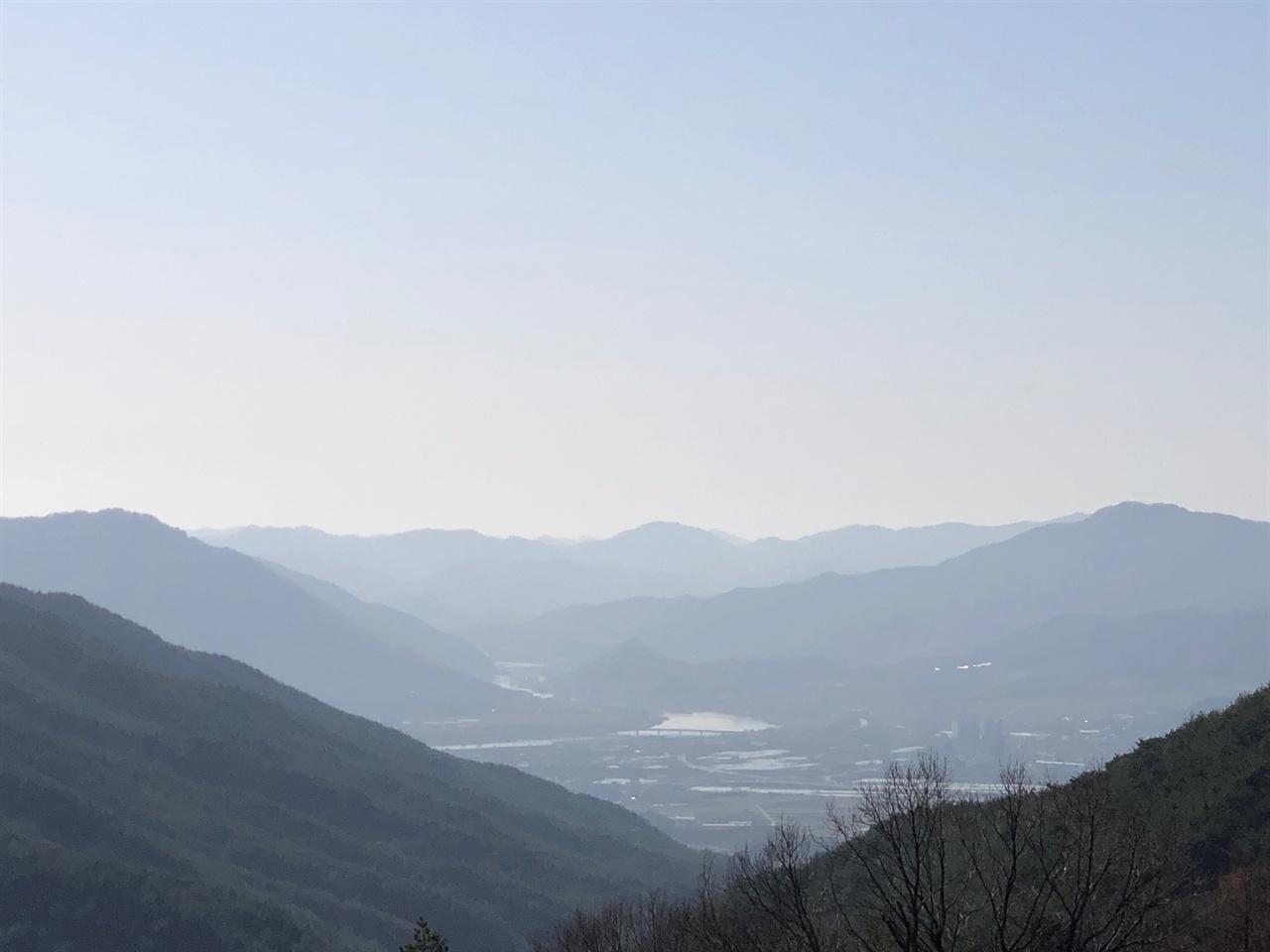 연기암 에서 바라본 섬진강 풍경