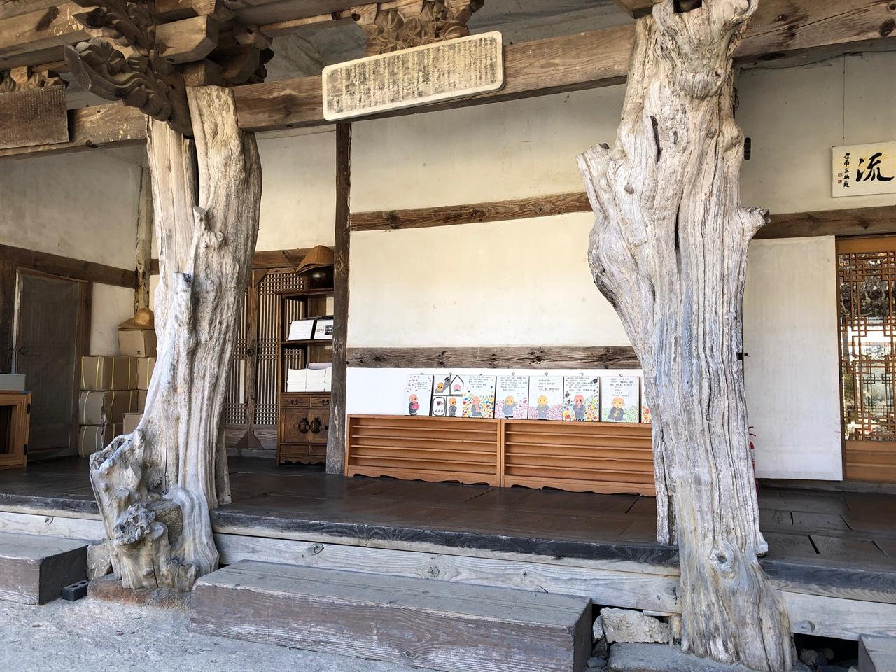 구층암 모과나무 기둥