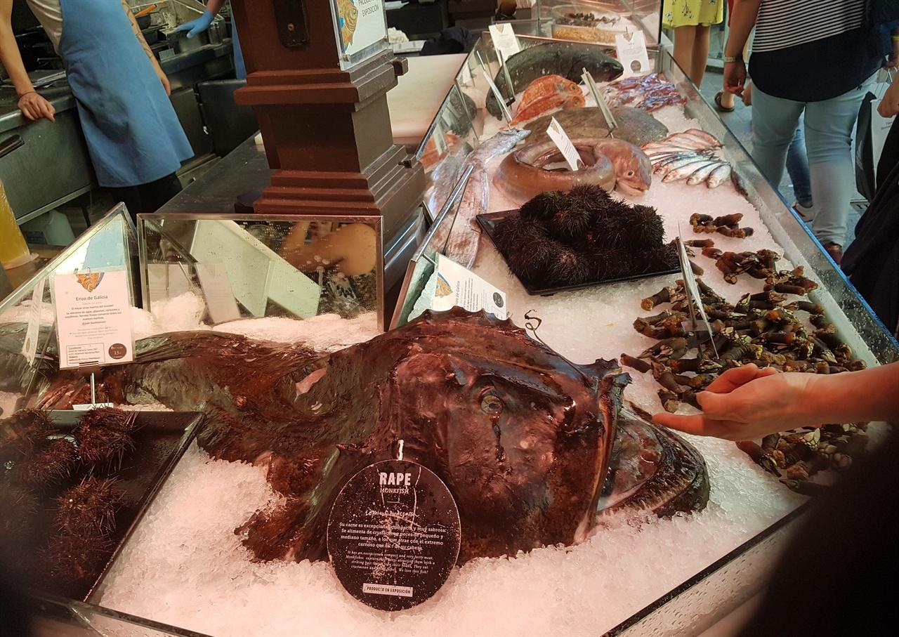 산 미구엘 시장은 싱싱한 각종 식재료에서부터 가공된 식품을 팔기도 합니다.