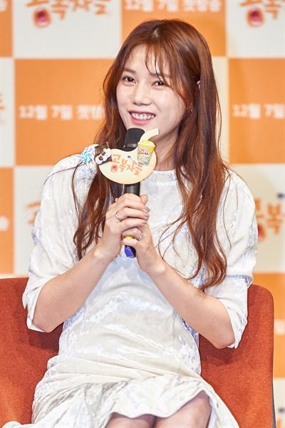 6일 오전 서울 마포구 상암MBC에서 열린 새 예능 프로그램 <공복자들> 제작발표회에서 권다현이 기자들의 질문에 답하고 있다.