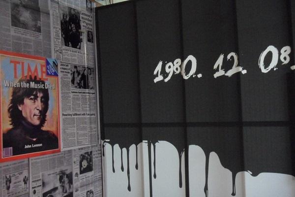 죽음 1980년 12월 8일 존 레논의 죽음과 관련한 신문 기사들이다.