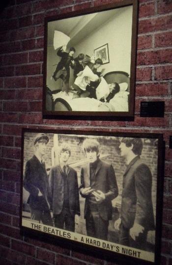 비틀즈 로큰롤 그룹 비틀즈의 모습이다.
