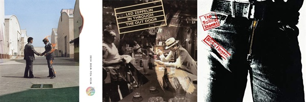 힙노시스가 디자인한 핑크 플로이드의 < Wish You Were Here >, 레드 제플린의 < In Through The Out Door >, 앤디 워홀이 작업한 롤링스톤스의 < Sticky Fingers >. 음악성 뿐만 아니라 커버 아트 디자인도 찬사를 받았지만 그래미 수상에는 실패했다.