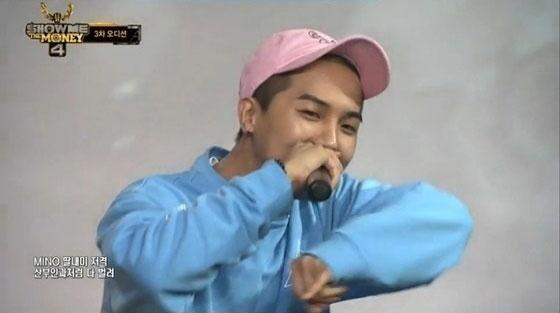 Mnet <쇼미더머니4> 출연 당시 가사 내용으로 논란이 된 송민호의 랩