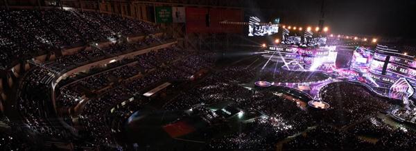국내 굴지의 엔터테인먼트 업체 카카오M(구 로엔엔터테인먼트)가 주최하는 멜론 뮤직어워드의 한 장면. (홈페이지 캡처)