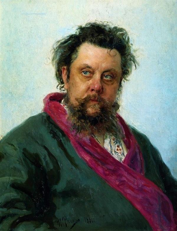 무소르그스키의 초상(일리야 레핀, 1881, 트레치야코프 미술관)