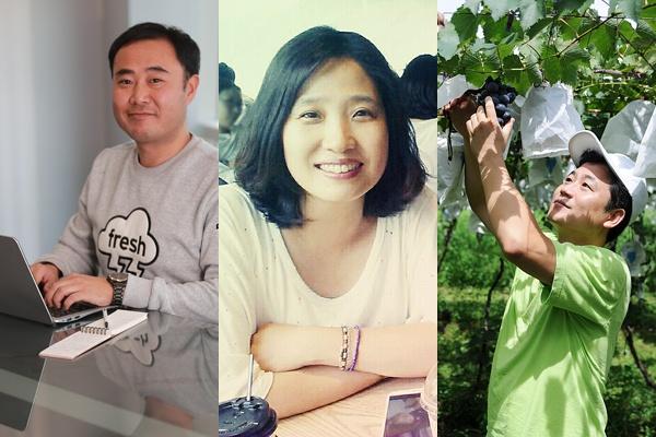 왼쪽부터 김용만, 신소영, 홍윤호 시민기자