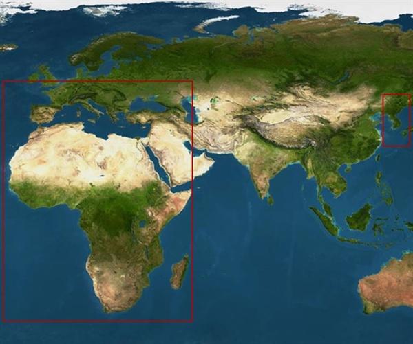 아프로 유라시아 지도 아프로 유라시아 현대지도