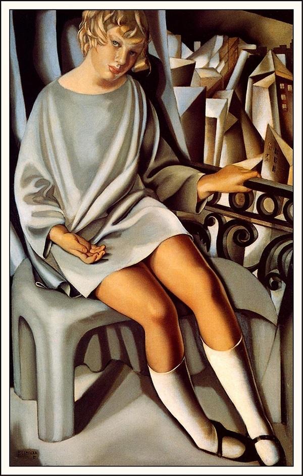 발코니에 있는 키제트(타마라드 렘피카, 1927, 퐁피두 미술관)