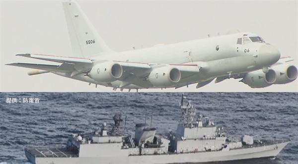 일본 P-1 초계기와 한국 광개토대왕함 2018년 12월 20일, 일본 해상자위대의 P-1 초계기는 동해상에서 북한 조난선을 구조하고 있던 한국 해경함과 광개토대왕함(구축함)을 조우하였다. 이때 일본 초계기가 한국 해군으로부터 사격관제용 레이더로 조준을 받았다고 일본측이 주장하면서 '레이더 갈등'이 시작되었다.