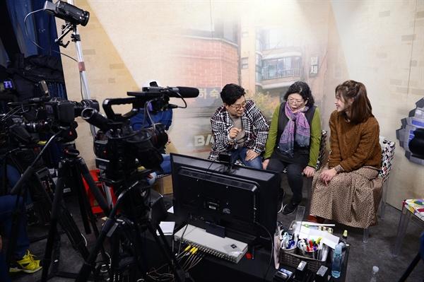 SBS <백종원의 골목식당> 현장 녹화 사진.