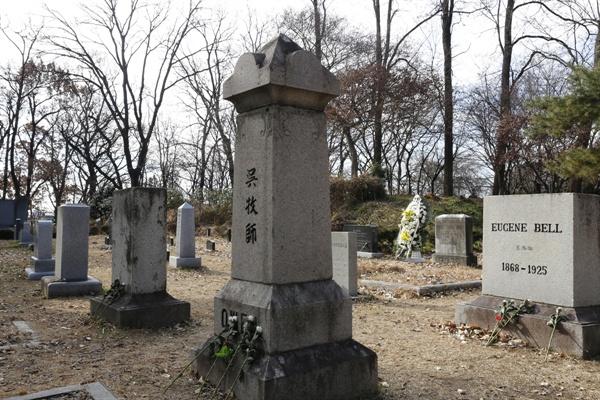 양림동 선교사 묘역. 호남신학대학교 뒷산에 자리하고 있다.