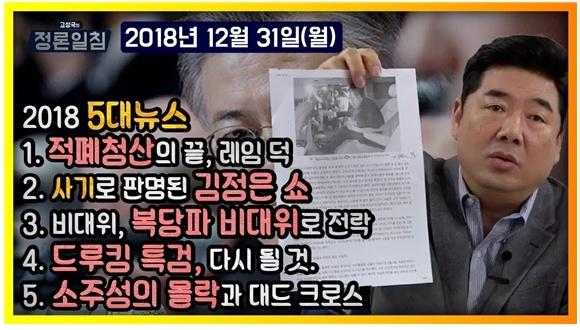 유튜브 <고성국 TV> 채널 갈무리(2018/12/31)