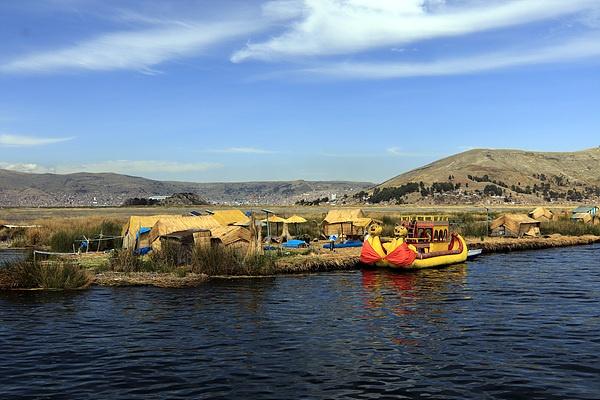 티티카카호수에 사는 원주민 마을 모습