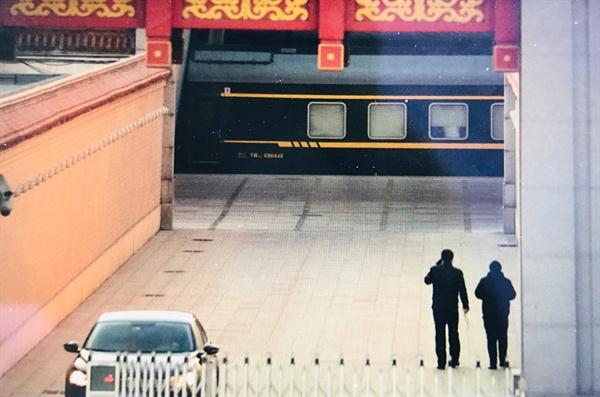 한산한 베이징역 북한 김정은 국무위원장이 4번째로 중국을 방문한 가운데 8일 오전 김 위원장이 탄 특별열차가 도착할 베이징역이 일반승객들이 없는 한산한 모습을 보이고 있다.
