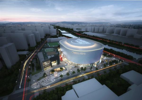 2024년 서울시 도봉구 창동에 문을 열 국내 첫 K-POP 전문 공연장 '서울아레나'의 조감도