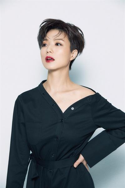 배우로 변신한 개그우먼 안영미, tvN <계룡선녀전> 종영 인터뷰 제공 사진.