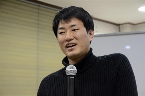 김재광 씨는 통일에 있어서 신중한 말과 태도가 중요하다고 했다.