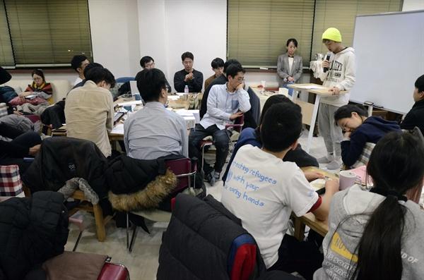 구한글 씨는 통일에 관한 생각을 언어로 풀어놨다.