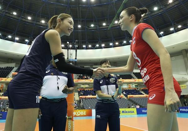대한민국 김연경-러시아 스타르체바... 2018 세계선수권 대회(2018.10.3)