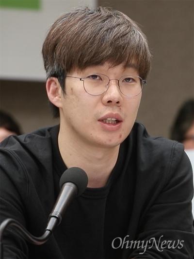 여준형 젊은빙상인연대 대표.