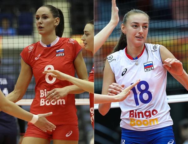 '러시아 대표팀 핵심' 곤차로바(194cm·왼쪽)-파루베츠(183cm)