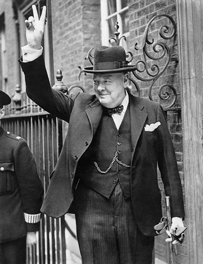 윈스턴 처칠 영국 총리.