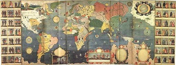 <만국회도병풍(萬國繪圖屛風)> 17세기 초