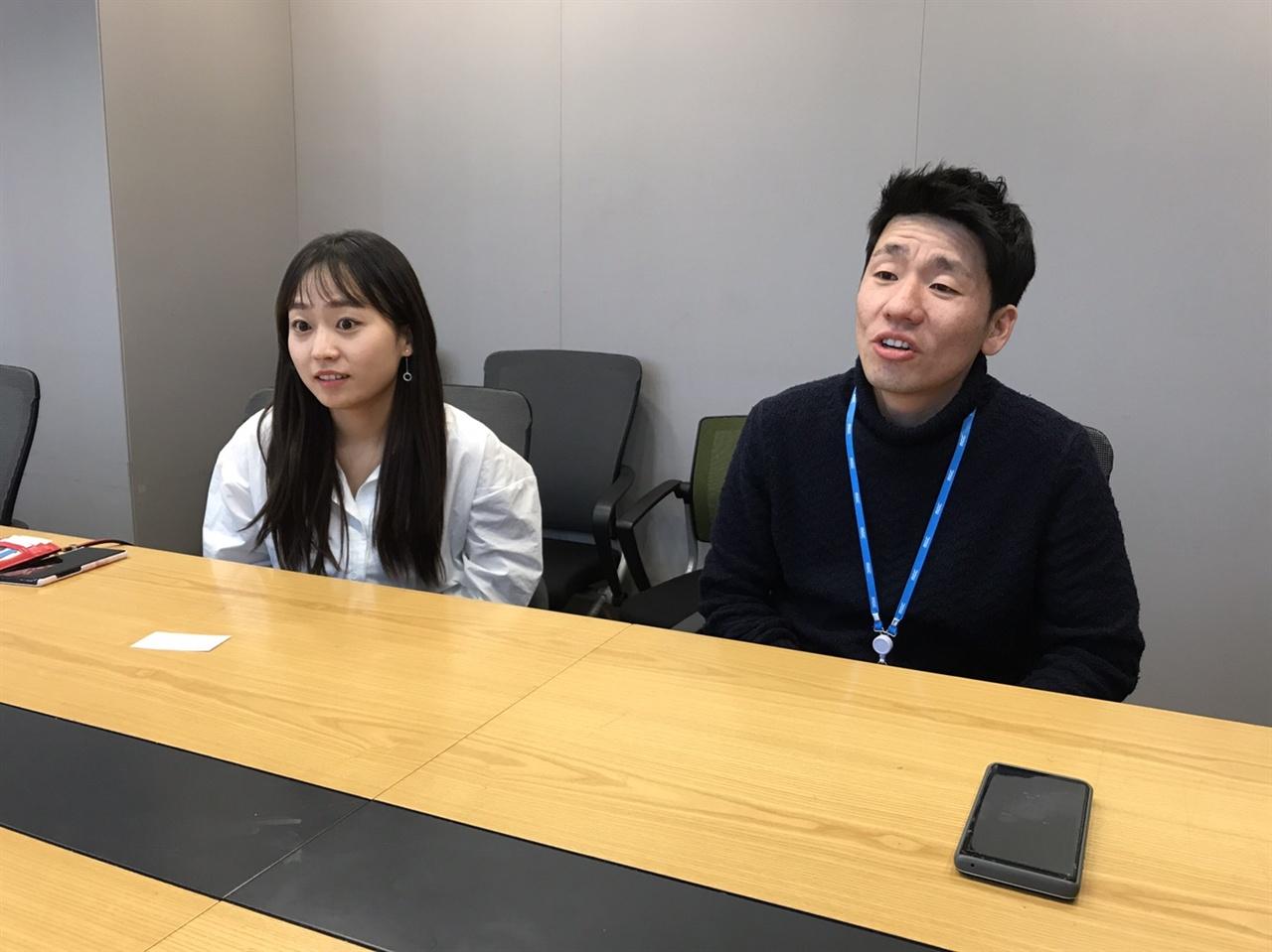< 1919~2019, 기억록 >의 김호성(오른쪽), 최별(왼쪽) MBC PD