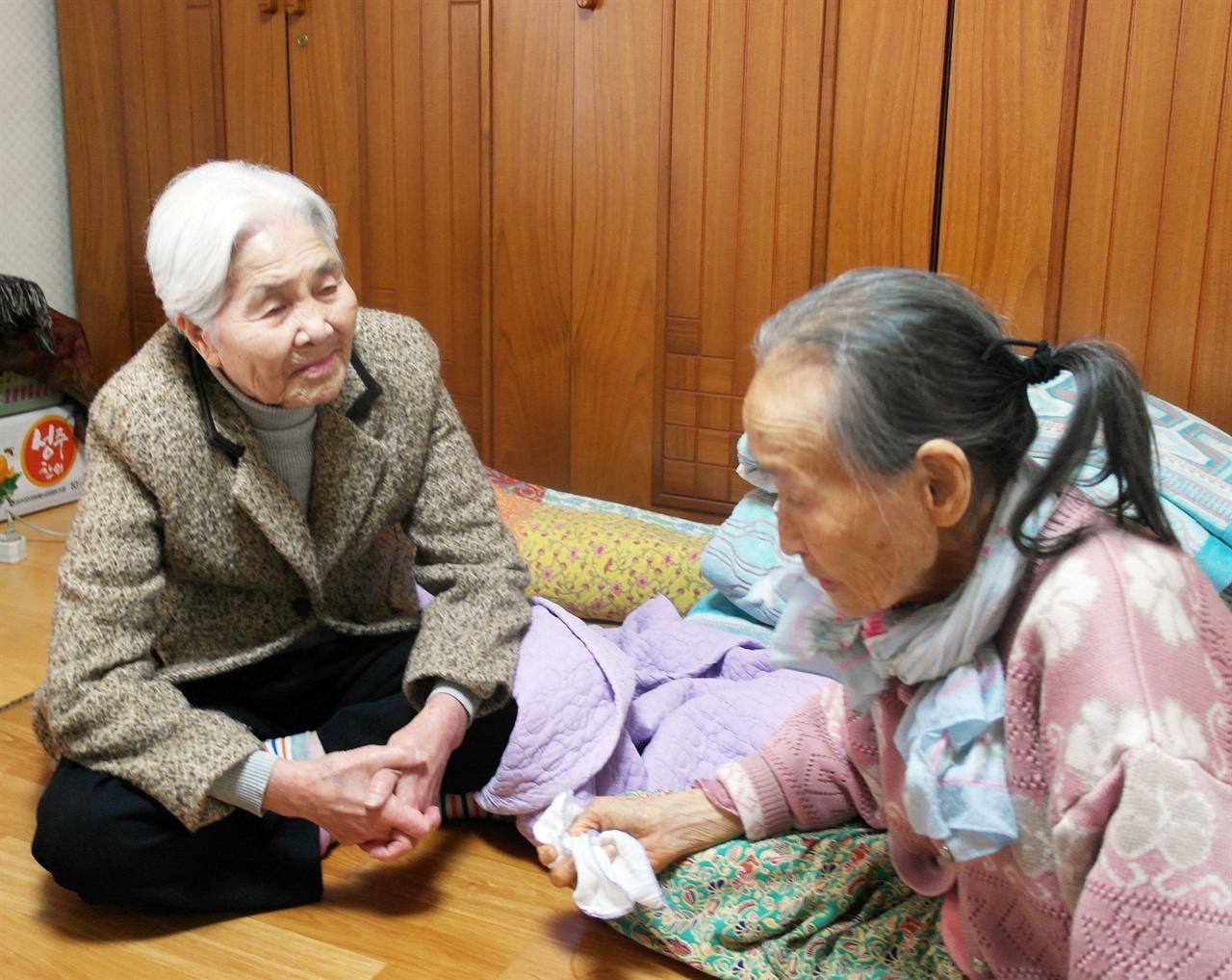 장금도 김난주 할머니 모습(2017년 2월)