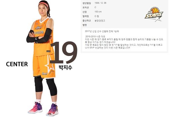 프로 입단 2년 만에 리그 최고 선수가 된 박지수는 작년 4월 WNBA에 드래프트됐다.