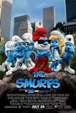 스머프 시리즈를 개작한 2011년 미국 영화 <스머프>.