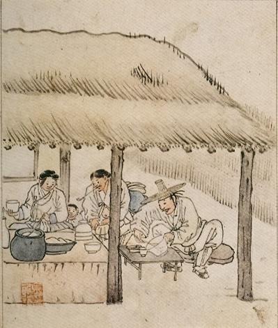김홍도의 <주막>.