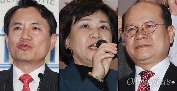 왼쪽부터 김진태, 김순례, 이종명 자유한국당 의원.