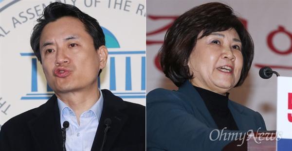 '5.18 망언'으로 비판 받고 있는 김진태, 김순례 자유한국당 의원.