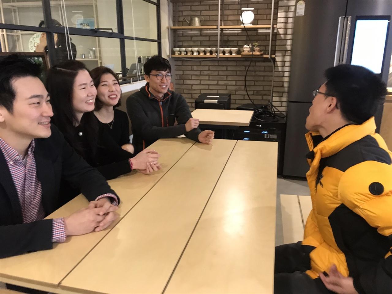 왼쪽부터 김기화 기자, 오귀나 PD, 박은진 작가, 선상원 촬영기자
