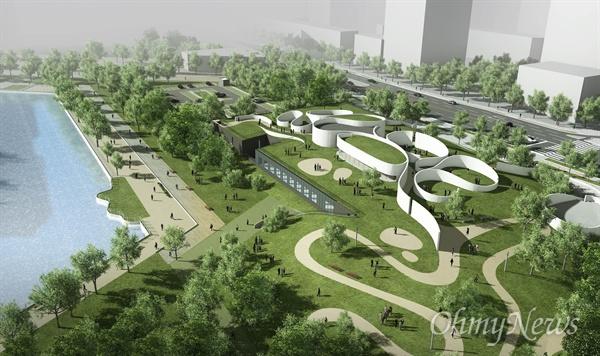 인천시는 송도 국제도시에 건립될 예정인 '국립세계문자박물관'을 올해 7월에 착공하고, 2021년에 개관할 계획이다. 사진은 국립세계문자박물관 조감도.