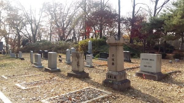 양림산에 있는 선교사 묘역. 110여 년 전 광주의 가장 낮은 곳으로 찾아온 푸른 눈의 선교사들은 죽어서도 양림산에 묻혔다