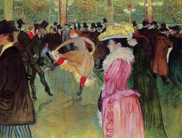 물랭루즈의 춤(툴르즈 로트레크,1889~1890, 필라델피아 미술관)