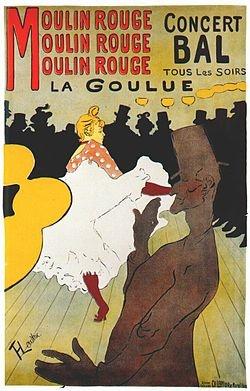 물랭루즈의 라 굴뤼 포스터(1891, 툴루즈 로트레크)