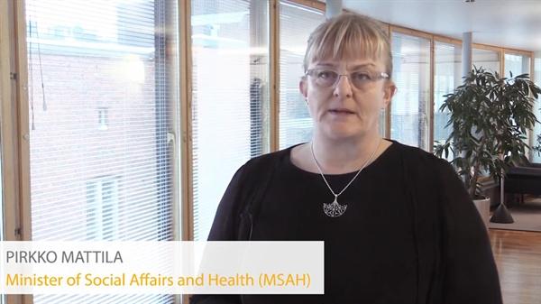 지난 7일 핀란드 사회사업복지부 유튜브 계정에 올라온 동영상에서 기본소득 실험 결과를 설명하는 피르코 마틸라 핀란드 사회사업복지부 장관.