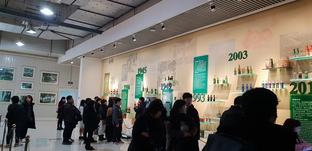 칭다오맥주 연혁 연도별 맥주 발전 사를 한눈으로 볼 수 있도록 정리해 놓았다.